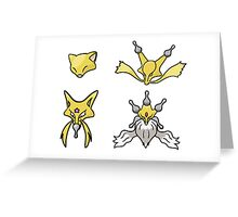 Abra's Evolution Greeting Card