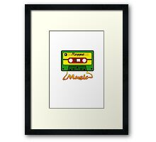 Reggae Tape Design Framed Print
