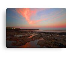 Sunrise At  Whitehaven Shoreline Canvas Print