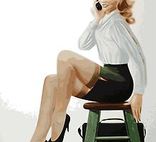 Blonde Business Woman by whiteflash