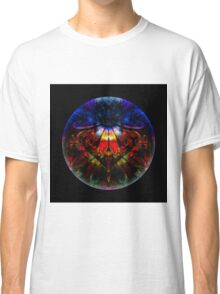 Man Under Flower Stands Before High Priestess While Glass Ball Encompasses All Classic T-Shirt