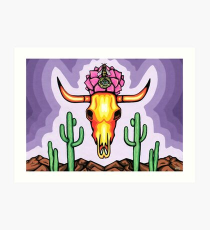 Life and Death in the Desert Art Print