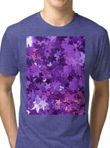 Purple Star Glitter Tri-blend T-Shirt