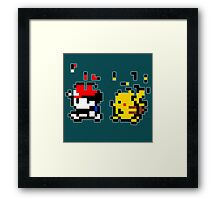 Pixel Start Framed Print
