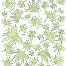 Canary Vine Leaves - Green by Sandra Foster