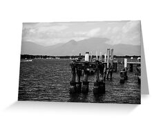 The Old Jetty B&W Greeting Card