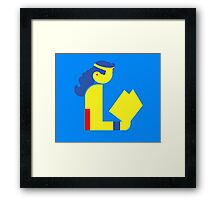 Wonder Lady Reads Framed Print