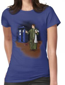 Hitchhiker in Time and Space Womens Fitted T-Shirt