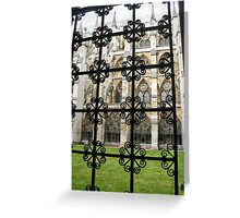 Westminster Abbey Courtyard Greeting Card