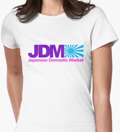 Japanese Domestic Market JDM (7) Womens Fitted T-Shirt