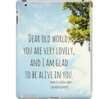 World Lovely Anne Shirley iPad Case/Skin