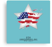 Star USA Independence Day 4TH July Canvas Print