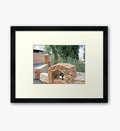 Arch of cobblestones Framed Print