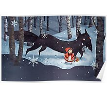 Little Red Riding Hood and the Wolf Poster