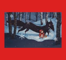Little Red Riding Hood and the Wolf One Piece - Long Sleeve