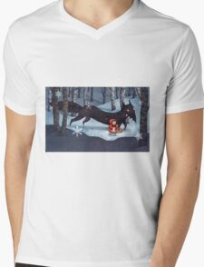 Little Red Riding Hood and the Wolf Mens V-Neck T-Shirt