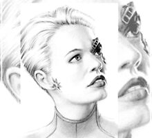 "Jeri Ryan as ""7 of 9"" miniature portrait by wu-wei"