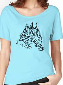 neighbor totoro skect abstract Women's Relaxed Fit T-Shirt