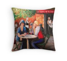 The Tavern in the Courtyard Throw Pillow