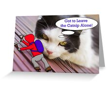 The Cat and the Climber Greeting Card