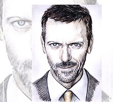 Hugh Laurie mini-portrait by wu-wei