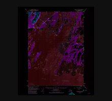 USGS TOPO Map Alaska AK Cordova B-3 355147 1952 63360 Inverted Unisex T-Shirt