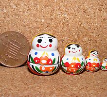 Russian Dolls in MIniature, all handpainted, by AnnDixon