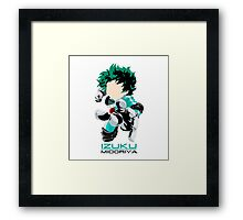Izuku THE HERO! Framed Print
