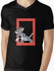 Tom & Jerry Mens V-Neck T-Shirt