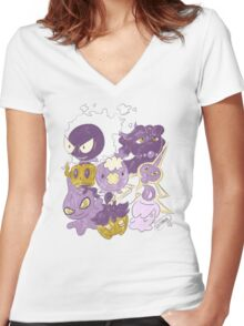 Ghost Babies by VIXTOPHER Women's Fitted V-Neck T-Shirt