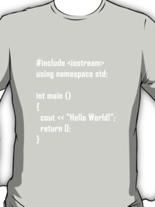 Hello World! C++ T-Shirt