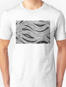 Miniature Aussie Tangle 023 in Black and White Unisex T-Shirt