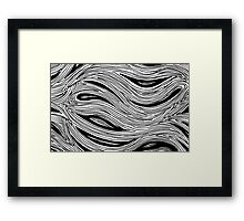 Miniature Aussie Tangle 023 in Black and White Framed Print