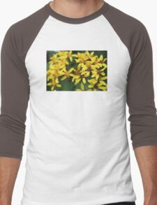 Yellow Flowers Men's Baseball ¾ T-Shirt
