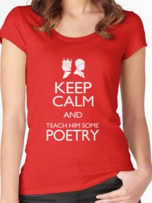 Keep Calm and Poetry Women's Fitted Scoop T-Shirt
