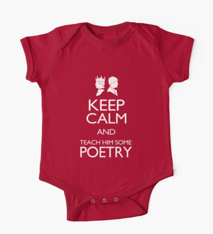 Keep Calm and Poetry One Piece - Short Sleeve