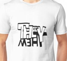 They/Them White to Black Unisex T-Shirt