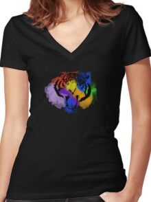 Fear The Rainbow Women's Fitted V-Neck T-Shirt