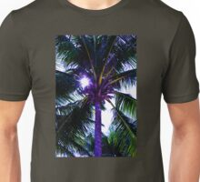 Palm tree with Retro summer filter effect Unisex T-Shirt