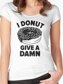 Donut Give a Damn Women's Fitted Scoop T-Shirt