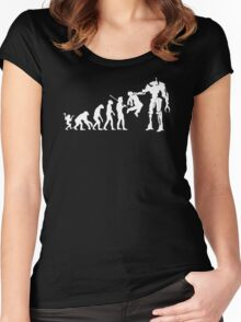 Evolution To Termination Women's Fitted Scoop T-Shirt
