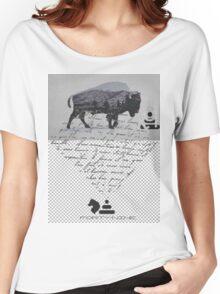 BISON BLU MEN'S CREW Women's Relaxed Fit T-Shirt
