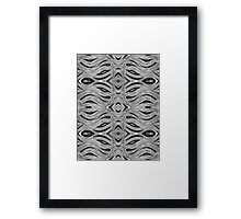 Miniature Aussie Tangle 023 Pattern in Black and White Framed Print