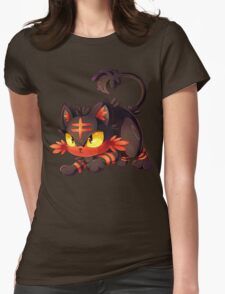 Litten approaches! Womens Fitted T-Shirt