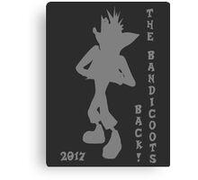 Crash Bandicoot Silhouette The Bandicoots Back! Canvas Print