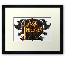 AGE OF THRONES Framed Print