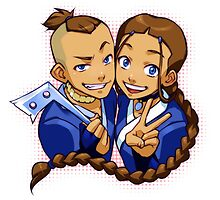 Katara and Sokka phone case. by hazelgraceprior