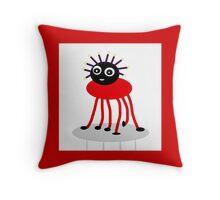 BUG-ME-NOT, red Throw Pillow