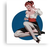 Knockout Ginger Pinup Girl Canvas Print