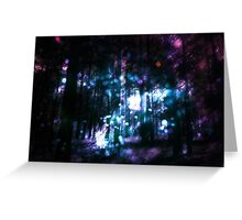 Fantasy Starry Forest 3 Greeting Card